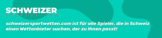 schweizersportwetten.com ist für alle Spieler, die in Schweiz einen Wettanbieter suchen, der zu Ihnen passt!
