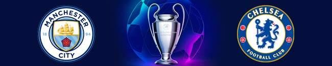 Champions League Finale Manchester vs Chelsea logo