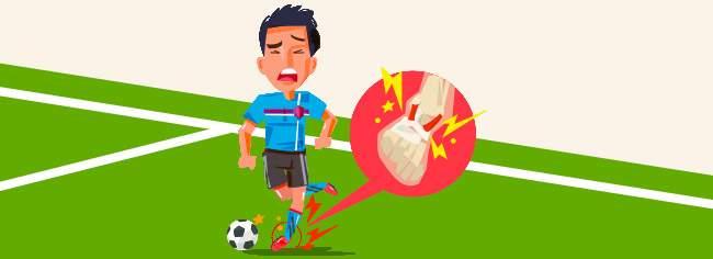 Verletzter Fussballer