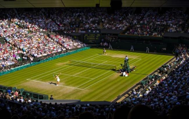 Tennisturnier mit Publikum
